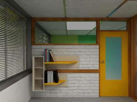 Diseño Mobiliario para oficina: Oficinas de estilo moderno por Arq. Barbara Bolivar