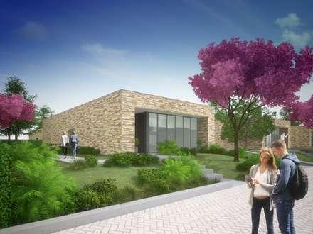 Stone House: Moradias  por Studio Deusdara