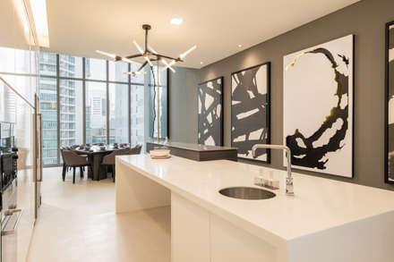 One KL @ KLCC: modern Dining room by Twelve Empire Sdn Bhd