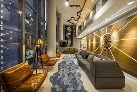 One KL @ KLCC: modern Living room by Twelve Empire Sdn Bhd