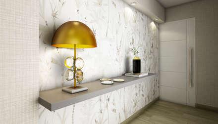 PROYECTO WA : Pasillos y vestíbulos de estilo  por Luis Escobar Interiorismo