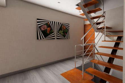 Proyecto JJ: Pasillos y vestíbulos de estilo  por Luis Escobar Interiorismo
