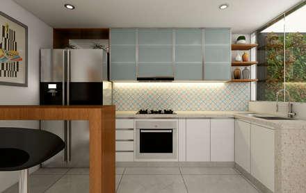 PROYECTO CR: Cocinas de estilo moderno por Luis Escobar Interiorismo