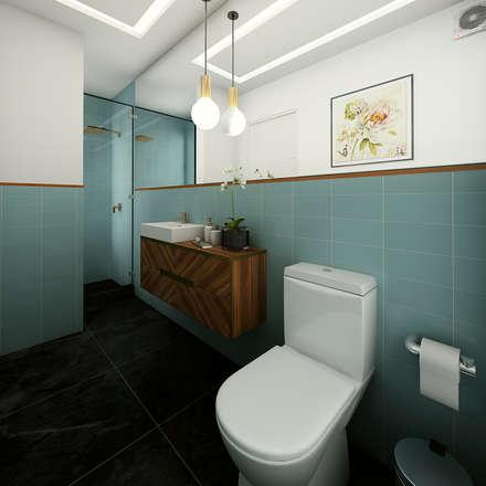 PROYECTO CR: Baños de estilo moderno por Luis Escobar Interiorismo