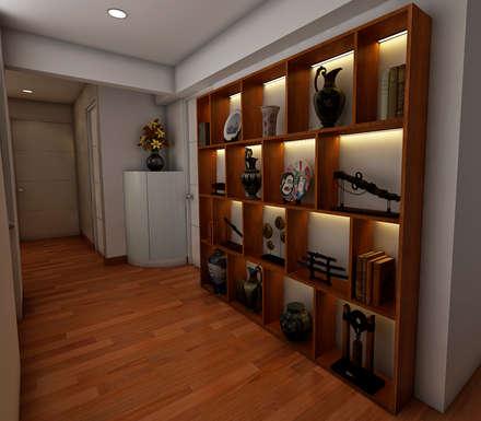 PROYECTO GA: Pasillos y vestíbulos de estilo  por Luis Escobar Interiorismo