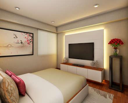 PROYECTO GA: Dormitorios de estilo  por Luis Escobar Interiorismo