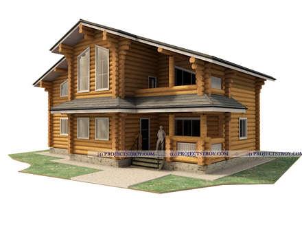 деревянный дом из бревна: Деревянные дома в . Автор – Projectstroy