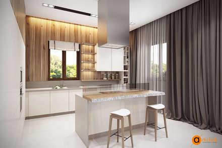 Кухня в эко стиле с белыми фасадами: Кухонные блоки в . Автор – Art-i-Chok