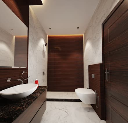 residence pinjaniji modern bathroom by khowal architects planners - Design Of Toilet Room