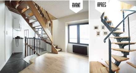 Rénovation complète d'une Maison de ville à Vincennes: Salon de style de style Colonial par GRAM Architecture