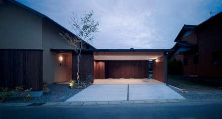 Casas de madera de estilo  por アトリエ FUDO