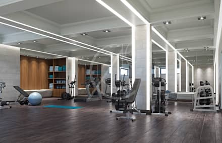 Gym: modern Gym by Comelite Architecture, Structure and Interior Design
