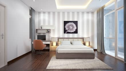 NHÀ PHỐ TẠI HUẾ:  Phòng ngủ by DCOR