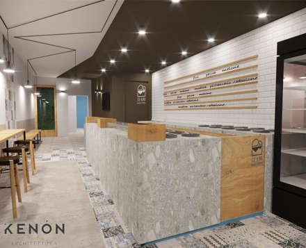 Oficinas y Tiendas de estilo  por Kenòn Architettura