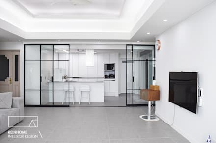 moderne Wohnzimmer von 리인홈인테리어디자인스튜디오