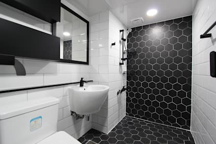 moderne Badezimmer von 한 인테리어 디자인