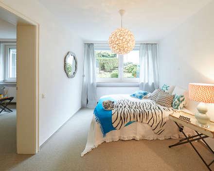 Exponierte Unternehmervilla in Bestlage - Entspannen: klassische Schlafzimmer von Tschangizian Home Staging & Redesign