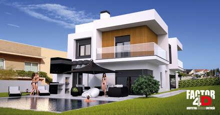 Exterior#002: Moradias  por Factor4D - Arquitetura, Engenharia & Construção