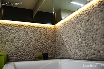 Pebble tile bathroom - Beige Pebble Tiles: asian Bathroom by Lux4home™ Indonesia