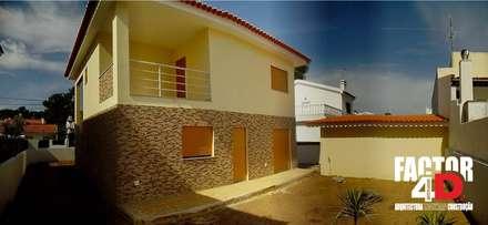 Exterior#003: Moradias  por Factor4D - Arquitetura, Engenharia & Construção