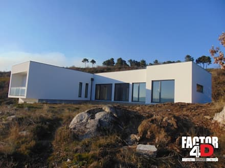 Fincas de estilo  por Factor4D - Arquitetura, Engenharia & Construção