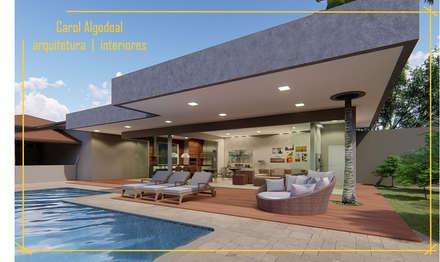 Garden Pool by Arquiteta Carol Algodoal Arquitetura e Interiores
