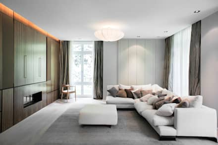 Grunewald Villa: moderner Multimedia-Raum von TINNAPPELMETZ