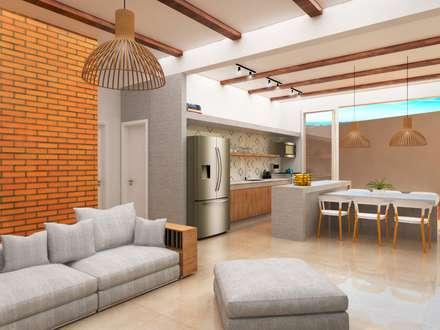 Salas de estar inspira o e design de interiores homify for Sala de estar estancia cocina abierta