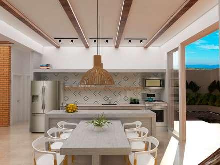 Muebles de cocinas de estilo  por TREVISO Studio Arquitetura e Interiores