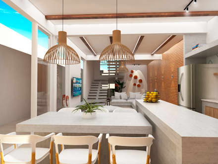 Armarios de cocinas de estilo  por TREVISO Studio Arquitetura e Interiores