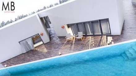 Pool House: Casas de madera de estilo  por MIB Studio