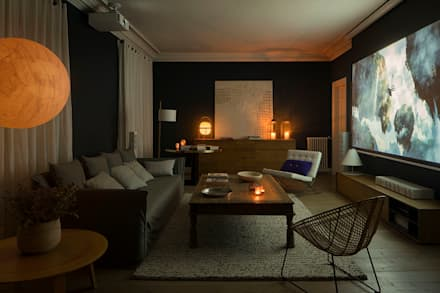 scandinavian Media room by Meritxell Ribé - The Room Studio