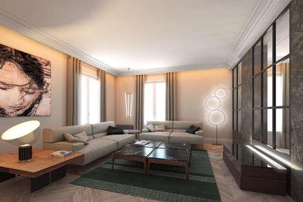 Vivienda Reina Victoria: Salones de estilo ecléctico de Meritxell Ribé - The Room Studio
