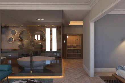 Vivienda Reina Victoria: Baños de estilo ecléctico de Meritxell Ribé - The Room Studio