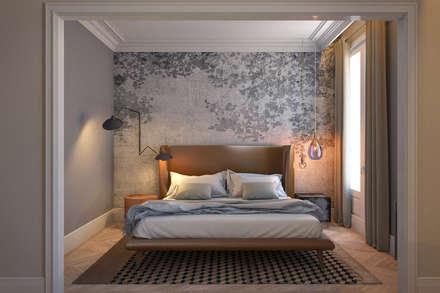 Vivienda Reina Victoria: Dormitorios de estilo ecléctico de Meritxell Ribé - The Room Studio