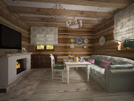 Камин: Столовые комнаты в . Автор – студия Виталии Романовской
