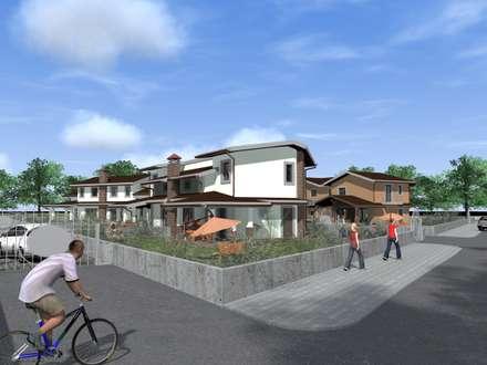Progetto di un complesso residenziale di villini bifamiliari: Villa in stile  di Ivo Astazi - Architecture & Design