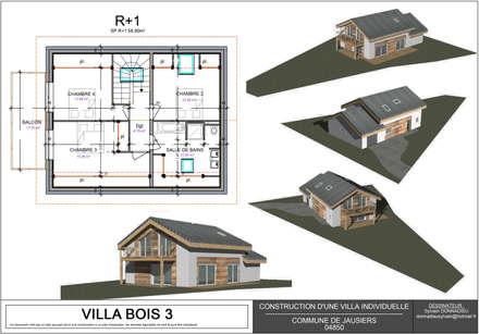 VILLA BOIS: Maisons de style de stile Rural par DESSINATEUR INDÉPENDANT