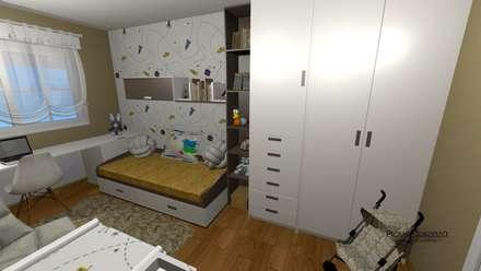 Dormitorio Bebe: Habitaciones de bebé de estilo  de proyectoszeza