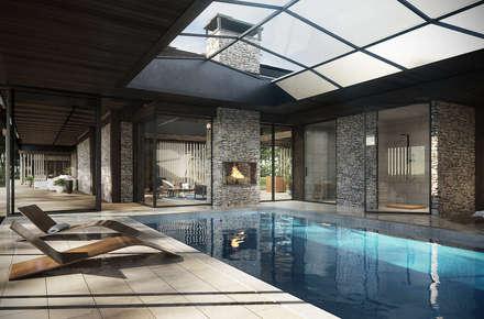 www.tissu.pl: styl , w kategorii Basen zaprojektowany przez TISSU Architecture