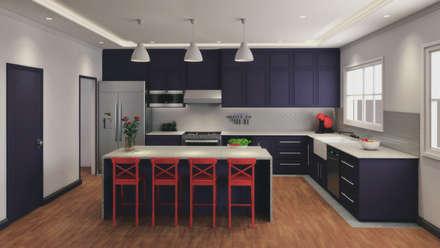 Cocina casa MW: Cocinas equipadas de estilo  por A. C. Arquitectura y diseño