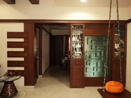 Sathyanarayanan Home Interior Design-1, Bangalore:  Inside doors by Bhavana Interiors Decorators