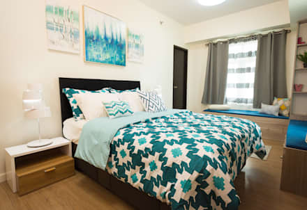 Meranti at Two Serendra: modern Bedroom by TG Designing Corner