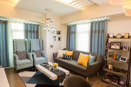 Meranti At Two Serendra: Modern Living Room By TG Designing Corner