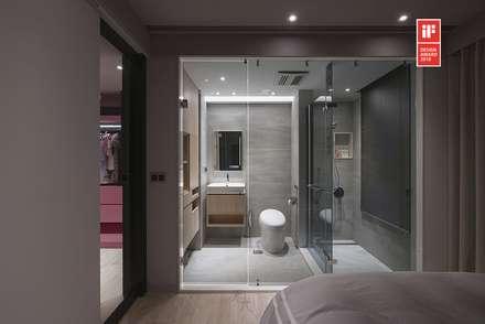 曖昧邊界 ─ 光與人的互動 / Ambiguous Boundary - Interaction of Light and People:  浴室 by 禾光室內裝修設計 ─ Her Guang Design