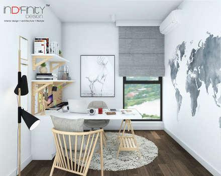 ห้องทำงาน/อ่านหนังสือ by inDfinity Design (M) SDN BHD