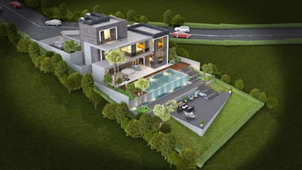 VERO CONCEPT MİMARLIK – Urla Kekliktepe Villa: modern tarz Evler