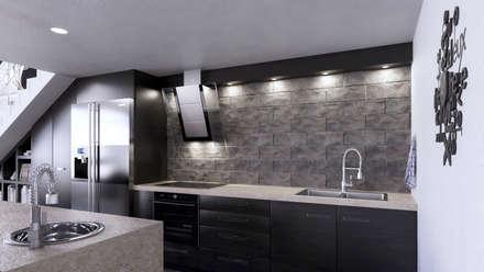 Kitchen:  Kitchen units by 7Storeys