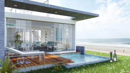 Casa de Playa - Mejía: Casas unifamiliares de estilo  por Inception Architects