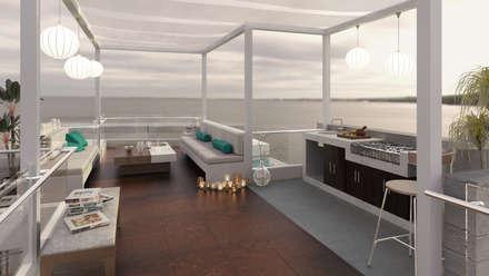 Casa de Playa - Mejía: Salas / recibidores de estilo moderno por Inception Architects